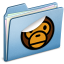 64x64px size png icon of Blue Sticker MILO