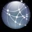 64x64px size png icon of Dot Mac Logo Graphite