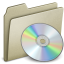64x64px size png icon of Lightbrown CD