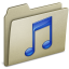 64x64px size png icon of Lightbrown Music