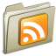 64x64px size png icon of Lightbrown RSS