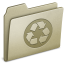 64x64px size png icon of Lightbrown Recycling