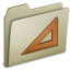 64x64px size png icon of Lightbrown Ruler