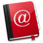 64x64px size png icon of AddressBook Red