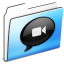 64x64px size png icon of IChat Folder smooth