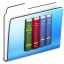 64x64px size png icon of Library Folder smooth