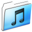 64x64px size png icon of Music Folder smooth