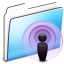 64x64px size png icon of Podcast Folder smooth