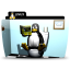 64x64px size png icon of Linux toilet