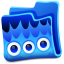 64x64px size png icon of blue folder