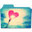 64x64px size png icon of Folder Heart