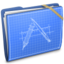 64x64px size png icon of Blue Elastic Developer