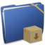 64x64px size png icon of Blue Elastic Drop Box