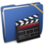 64x64px size png icon of Blue Elastic Movie