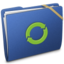 64x64px size png icon of Blue Elastic iDisk