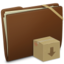64x64px size png icon of Brown Elastic Drop Box