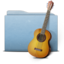 64x64px size png icon of Folder Blue Music alt
