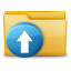 64x64px size png icon of Folder Upload