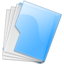 64x64px size png icon of Folder Blue