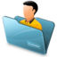 64x64px size png icon of Folder customer
