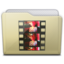 64x64px size png icon of beige folder movies