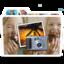 64x64px size png icon of White Photos Alt