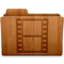64x64px size png icon of Movies Wood