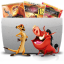 64x64px size png icon of Folder TV Lion