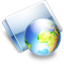 64x64px size png icon of Online earth