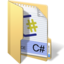 64x64px size png icon of csharp
