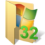 64x64px size png icon of system32