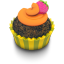 64x64px size png icon of Chocolate Orange Cupcake