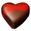 64x64px size png icon of chocolate hearts 09