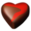 64x64px size png icon of chocolate hearts 12