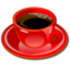 64x64px size png icon of Coffeecup red