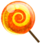 64x64px size png icon of candy orange