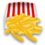 64x64px size png icon of French fries