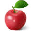 64x64px size png icon of apple red