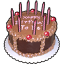 64x64px size png icon of Birth cake