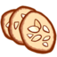64x64px size png icon of Tuiles aux amandes