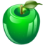 64x64px size png icon of green apple