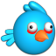 64x64px size png icon of Bird blue