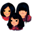 64x64px size png icon of Three Girls