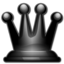 64x64px size png icon of Black queen 2d