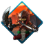 64x64px size png icon of sonic black knight
