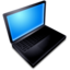 64x64px size png icon of Mac Book Black On