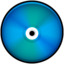 64x64px size png icon of CD Colored Blue