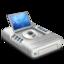 64x64px size png icon of DVD drive alternative dark 2