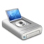 64x64px size png icon of DVD drive alternative dark