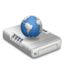64x64px size png icon of Network drive dark